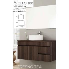 Conjunto WC Sierra 100 com lavatório sobre tampo de madeira