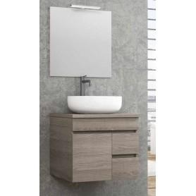 Conjunto WC sierra 60 com lavatório Tigris oval e espelho valle