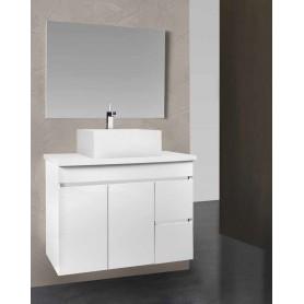 Conjunto WC Sierra 80 tampo com lavatório cerâmico Motril
