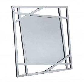 Espelho metal prateado ref 96225 100x100