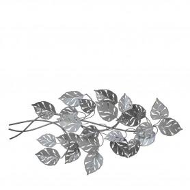 Decoração Metal de parede Ref. 83979 folhas prateadas