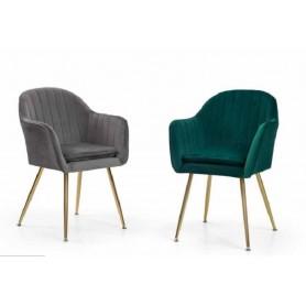 Cadeira dourada com Tecido Velvet 874ZL505
