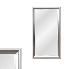 Espelho com moldura Branca e Prateada Ref 8275 130x80cm