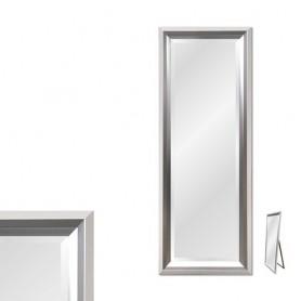 Espelho com moldura Branca e Prateada Ref 8276 166x65cm P3416A