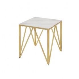 Mesa centro apoio dourada marmore 55*55*55cm CS-1011-1 R7729
