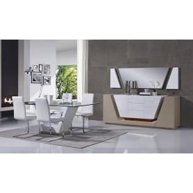 Sala de Jantar GRAY Lacado Branco e bege