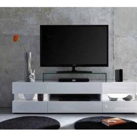Móvel Tv Sonic com leds 866316-01 Branco 169x43x43