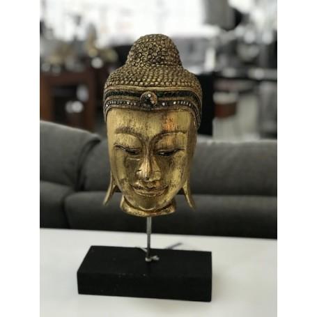 Busto Folha de Ouro Ref. MA186 madeira