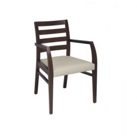 Cadeira com braços Ref 7192 madeira faia estofo classe 2