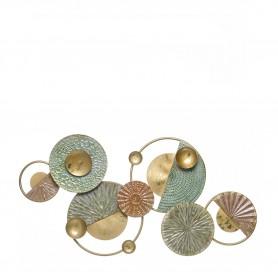 Decoração Metal de parede re 97080 dourado , verde e bronze