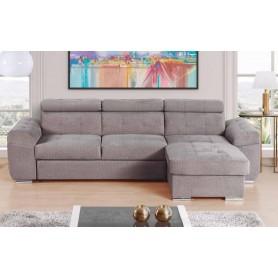 Sofá EROS Chaise-longue Reversível com cama elevatória e baú