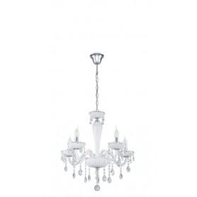 Candeeiro Teto Suspensão CARPENTO ref 39113 cristal e branco