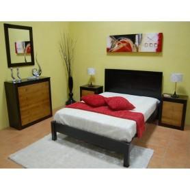 Quarto Casal Completo Lisa Ref 027020 Cerejeira e wengue