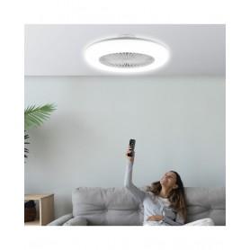 Candeeiro Ventilador de teto NEBULA branco LED ref 10952 - AJP