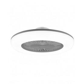 Candeeiro Ventilador de teto NEBULA Prata LED ref 10953 - AJP