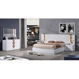 Full Bedroom Set Roma Matte white lacquered