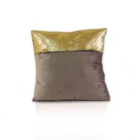 Almofada decorativa castanho Ouro 45X45CM 18-061 ref 6338