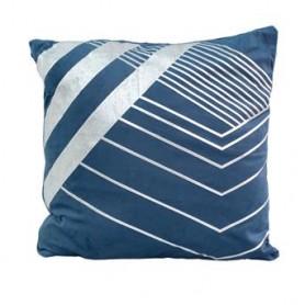 Almofada decorativa Azul c prata 43X43CM SAC03-95 R 8627