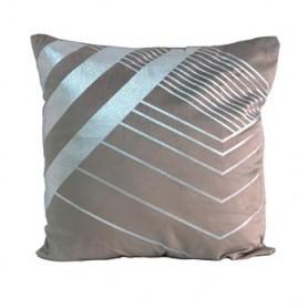Almofada decorativa Taupe c prata 43X43CM SAC03-95 R 8626
