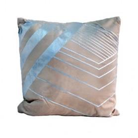 Almofada decorativa Bege c prata 43X43CM SAC03-95 R 8625