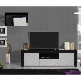 Movél TV Plasma c/Leds  Wengue com lacado branco