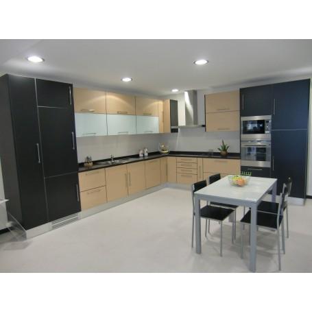 Cozinha Melamina carvalho e Preto