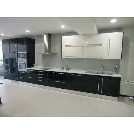 Cozinha Melamina Branco  Preto