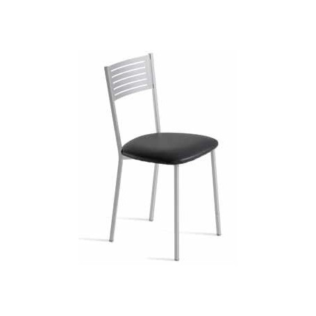 Cadeira ZEN Estrutura metálica assento estofado