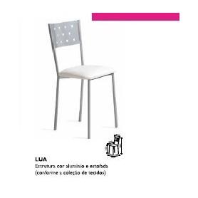 Cadeira LUA Estrutura metálica assento estofado