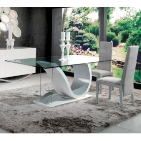 Mesa Sala Time ref.3001.34 com tampo vidro