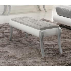 Canapé Lilac 4021.33 lacado branco assento estofado