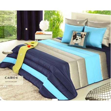 Edredon Solteiro Cairo 6 Azul 200*250