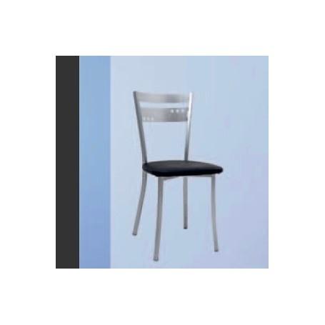 Cadeira Coroa-Prata c/Assento Estofado