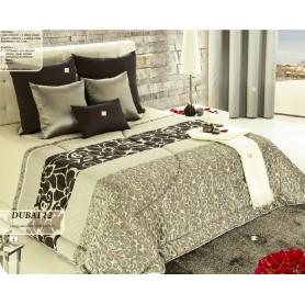 Edredon Dubai Casal Ref. 12 Branco/ Cinza c/2 Almofadas Deco