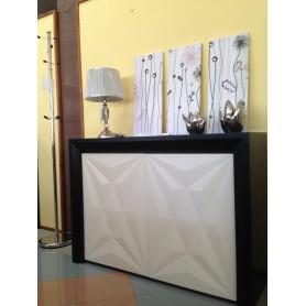 Sapateira Wengué c/ 2 Portas Lacado Branco c/ Leds ref. 3756.