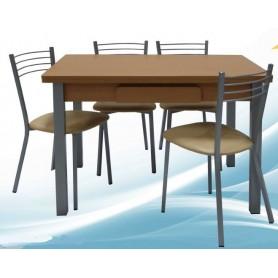 Conjunto Primavera Mesa Extensível + 4 Cadeiras